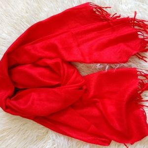 Red scarf/shall with tassles